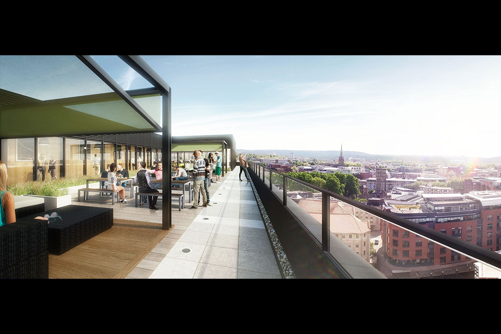 Assembly Bristol: Building A: Roof Terrace