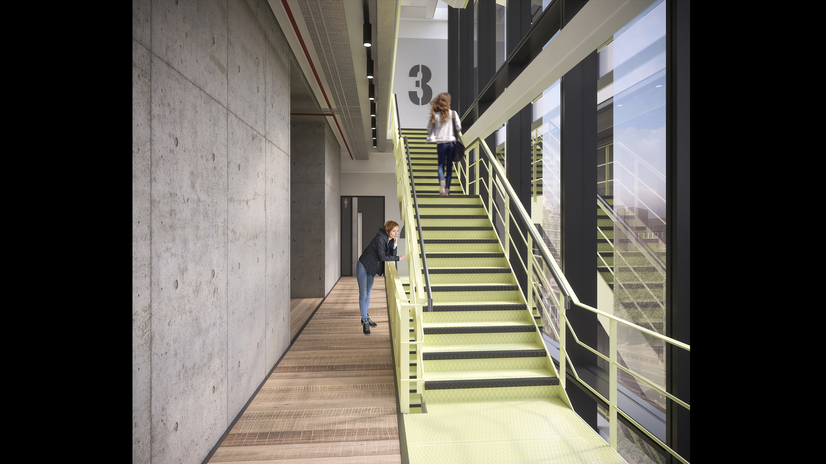Assembly Bristol: Building A: Core Stairwell